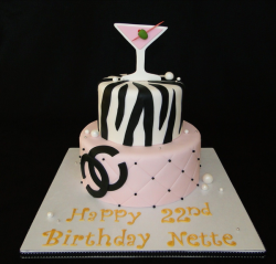 Zebra birthday cake and Chanel cake in pink.PNG