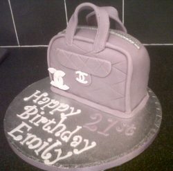 Purple Chanel handbag cake  for birthday party.PNG