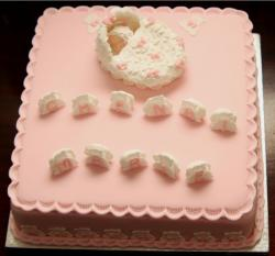 Peachy Christening cake images