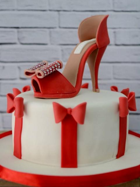 Red High Heel Shoe Cake For Women Jpg Hi Res 720p Hd