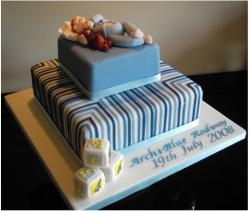Modern Christening Cake picture