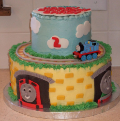 Two tiers Thomas and friends running on the rails and tunnels.PNG