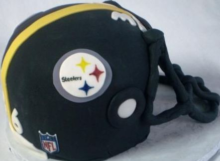 Pittsburgh Steelers Helmet Cake Jpg