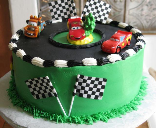 Disney Cars Theme Green Cake JPG 1ment Hi Res 720p HD