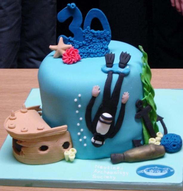 Scuba Diving Theme Blue 30th Birthday Cake Jpg Hi Res 720p Hd