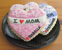 Mother's day cookies heart shapes.JPG