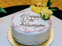 40th Anniversary Cake with Yellow Floral Decor.JPG