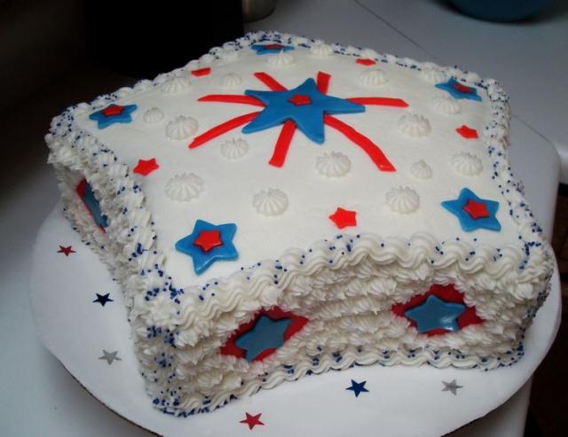Star Shaped 4th Of July Cake Jpg