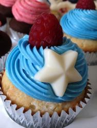 4th of July cake theme picture of cupcake with fresh berry.JPG
