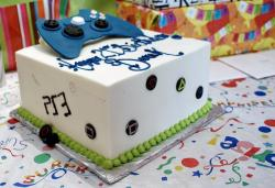 Video Game Birthday Cake with XBox Controller.JPG