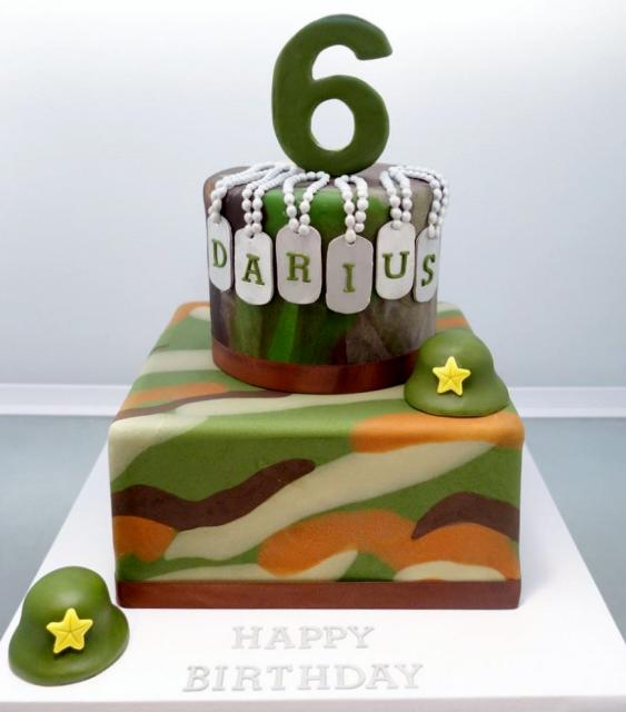 Army Theme 6th Birthday Cake In 2 Tiersg Hi Res 720p Hd