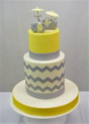 Cute Elephant Theme Baby Shower Cake in 3 Tiers.JPG