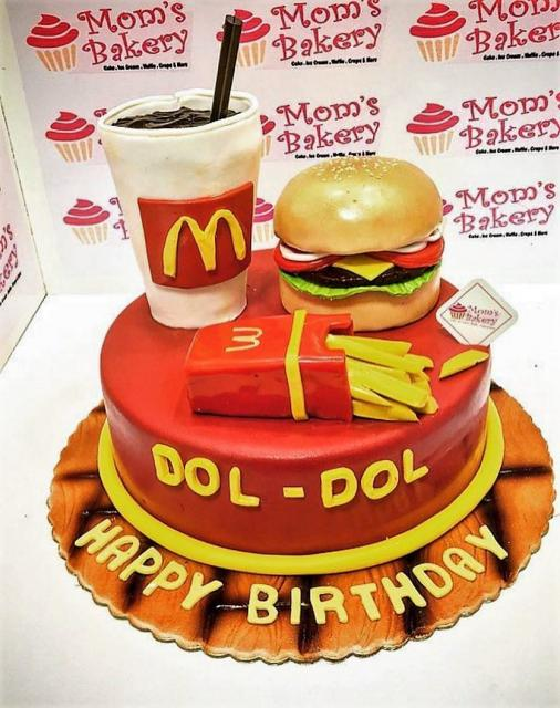 Miraculous Mcdonalds Burger Meal Birthday Cake With Fries And Drink Jpg Hi Birthday Cards Printable Nowaargucafe Filternl