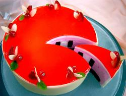 bright red cake with berries.jpg