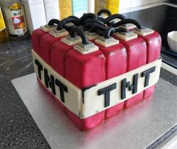 Minecraft Theme TNT block Cake