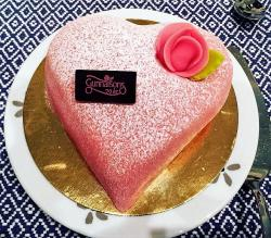 Pink Heart Shaped Cake by Gunnarsons