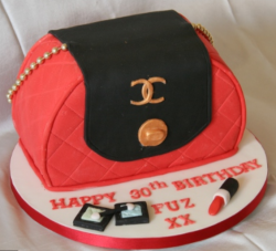 Beautiful Chanel cake in bright colors with elegant touch