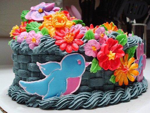 Colorful Birthday Cake With Bird Jpg 2 Comments