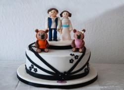 Cute Jedi Family Cake for Star Wars Fans