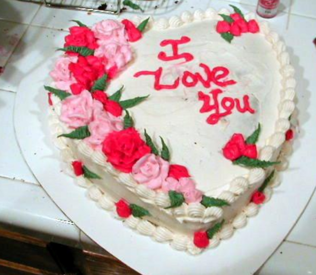 Homemade valentine cake in heart shape.PNG