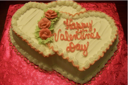 Two heart valentine cake with peach patterns.PNG