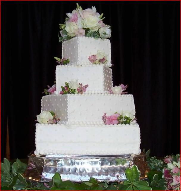 Square Stacked Wedding Cakes Stacked Offset Squares Wedding