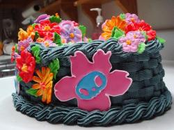 Colorful Birday Cake and sugar flowers.jpg