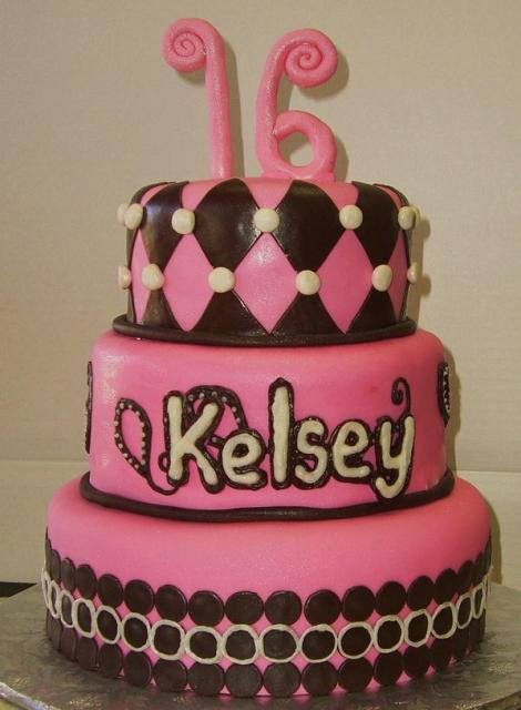 Pink 3 Tier Sweet 16 Birthday Cake Jpg 3 Comments