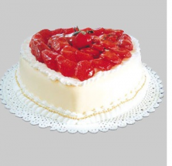 Cocoa chiffon valentine cake in creamy and bright red topper.PNG