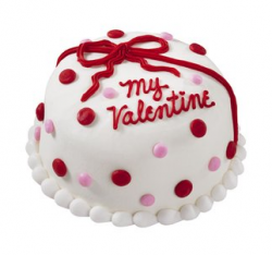Fun and romantic valentine cake with colorful cake decoration.PNG