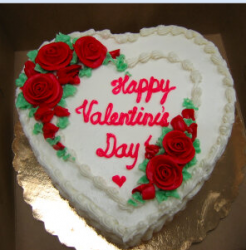 Happy valentine cake with red floral decor.PNG