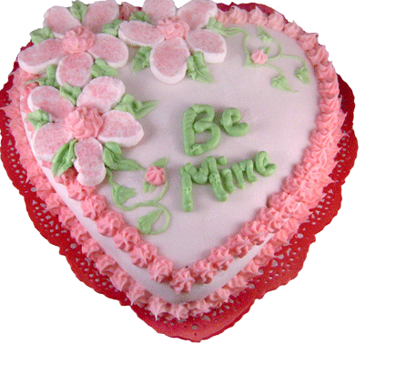 Valentine Cake Decorations Design : Pictures of valentine cake heart cake decor with flowers ...