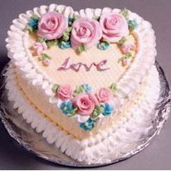 pretty traditional valentine cake decorpng - Cake Decor