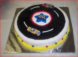 NASCAR race car groom's cake.jpg