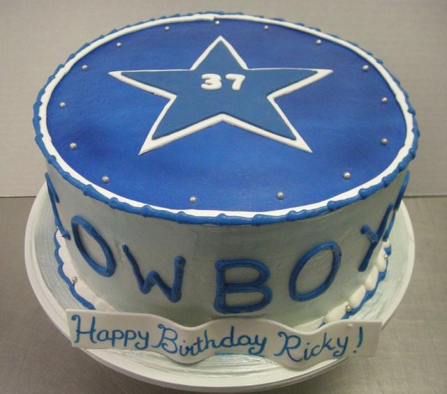 Outstanding Dallas Cowboys Theme Birthday Cake With Star Jpg 1 Comment Hi Funny Birthday Cards Online Alyptdamsfinfo