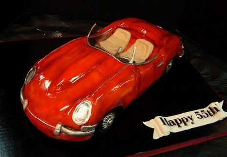 Red Jaguar Car Cake For 55th Birthdayjpg
