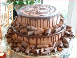 Two tier round chocolate Groom's Cake.jpg
