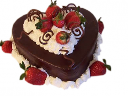 Valentine cake in rich chocolate with fresh strawberries.PNG