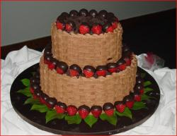 Chocolate basket weave groom's cake.jpg