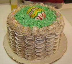 Butter cream cake with Easter egg in the middle.JPG