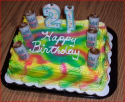 21st birthday beer can decorated birthday cake.jpg