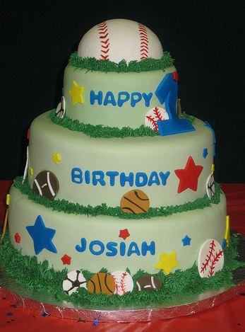 gluten free birthday cake Tier Sports Theme Birthday Cake Kids Baseball
