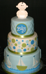 Baby boy Baby Shower Cake in three tiers.PNG