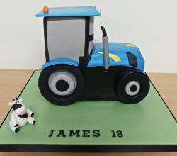 Farm tractor & cow 18th birthday cake.JPG