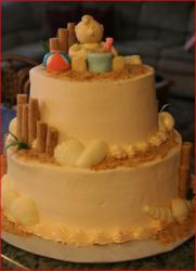 Sandy beach theme Baby Shower Cake.jpg