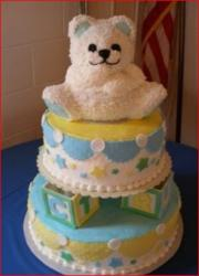 Teddy Bear and Play Blocks Decorated Baby Shower Cake.jpg