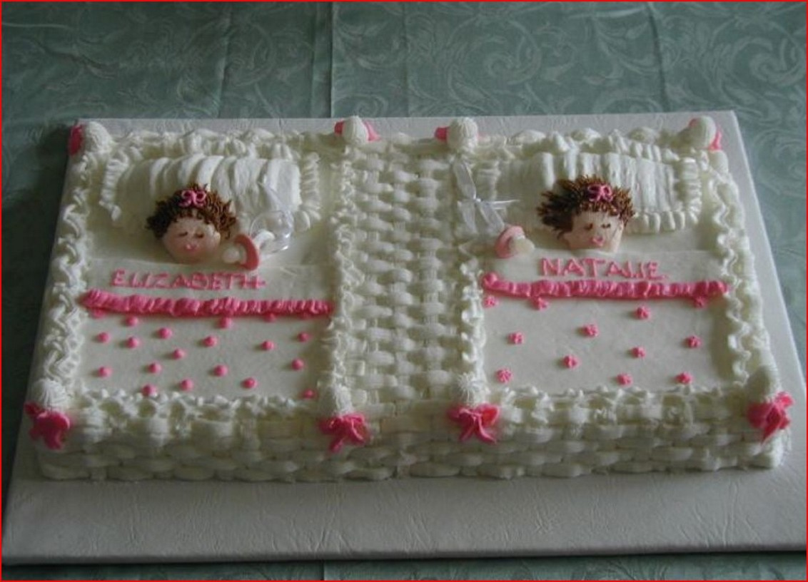 find some references for baby shower cakes recipe for twins