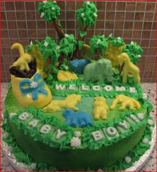 Animal kingdom jungle theme baby shower cake for baby boys.jpg