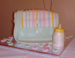 Colorful Baby Bag Baby Shower Cake photo.PNG