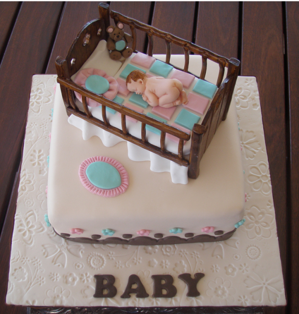 picture of creative baby crib baby shower cake